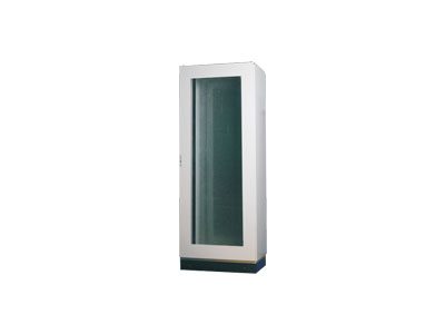 AR8P one piece floor stand cabinet-toughened glass door