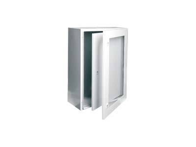 STIP Toughened glass door +inner door wall mount enclosure