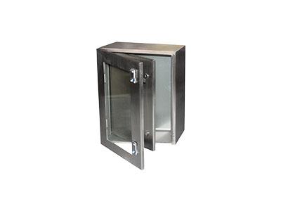 STXIP Stainless steel box with inner door+toughened glass door