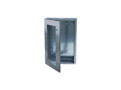 STXP Stainless steel box with toughened glass door